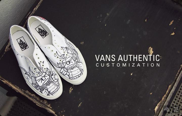 Drawn vans custom authentic #7