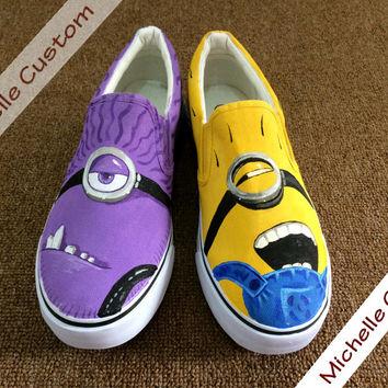 Drawn vans custom design Shoes Painted Custom Hand Vans