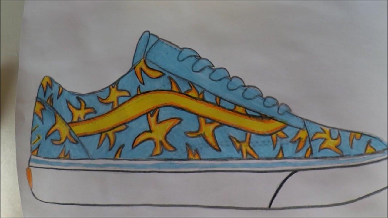 Drawn vans custom drawn Vans: Sneaker Future Skool Custom