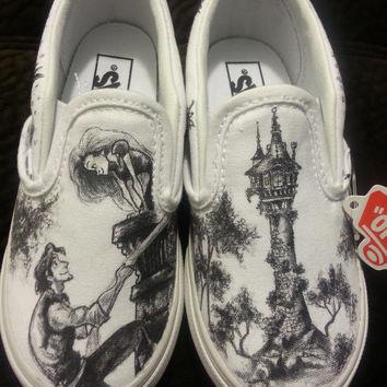 Drawn vans custom made Shoes Shoes Wanelo Disney Shop