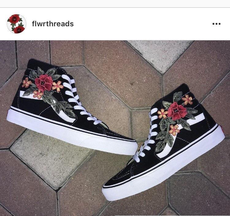 Drawn vans custom made Skool Applique shoes vans Shoes