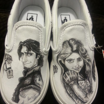 Drawn vans custom made Shoes Wanelo Shoes on Custom