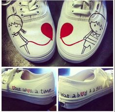 Drawn vans cute Shoes cartoon drawn these look