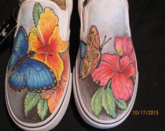 Drawn vans designed Shoes hand imagine Custom one