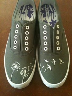 Drawn vans diy Drawn Custom Painted Design Vans