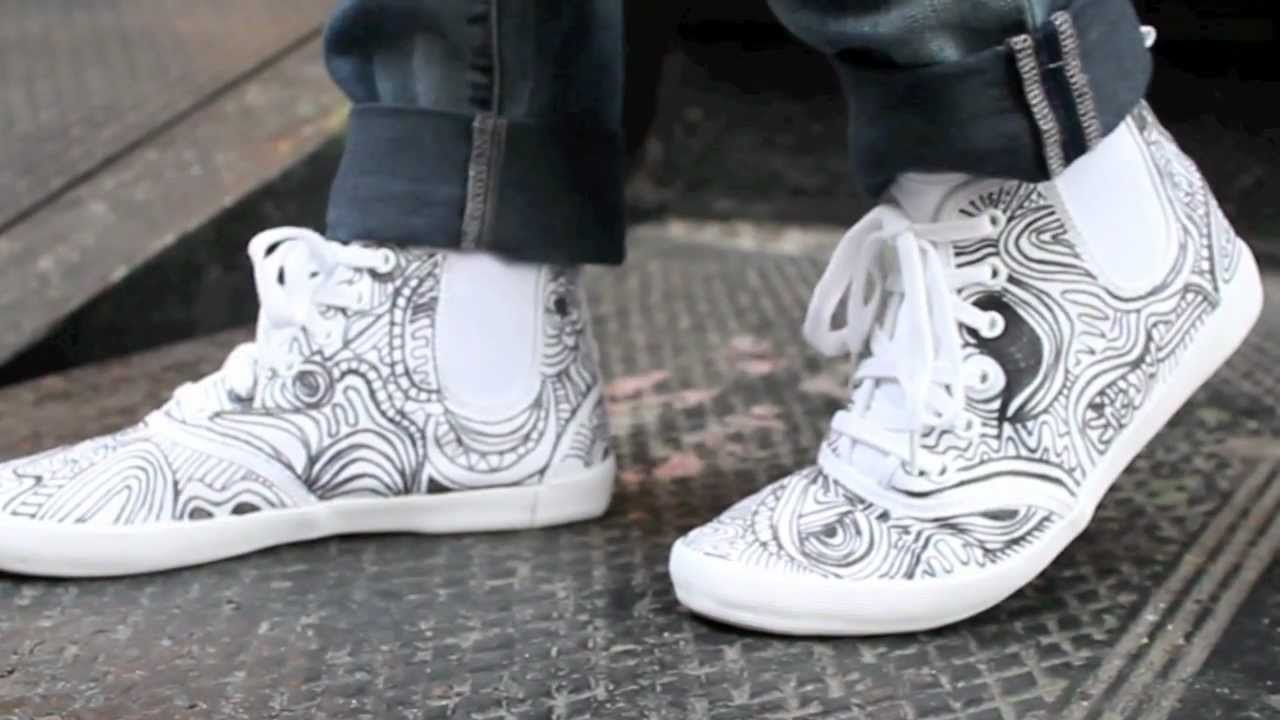Drawn sneakers naruto  On DIY YouTube Drawn