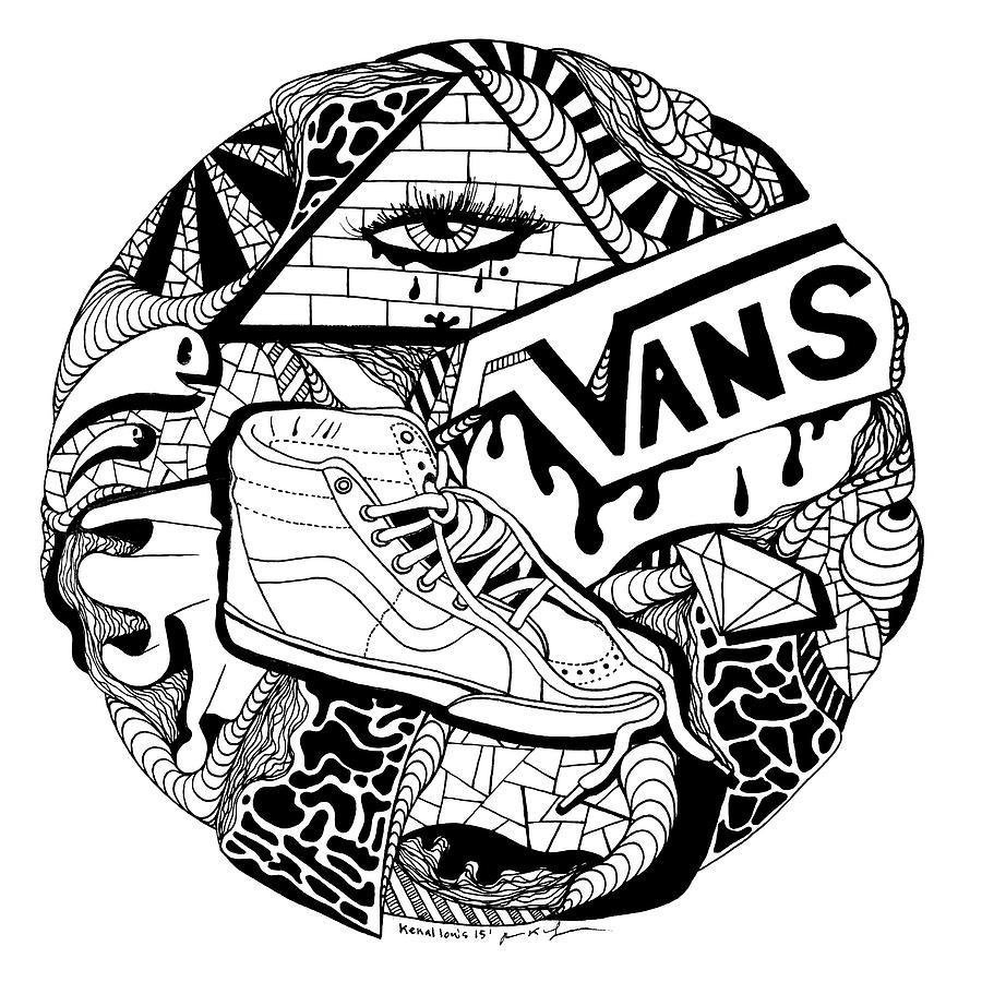 Drawn vans doodle #13