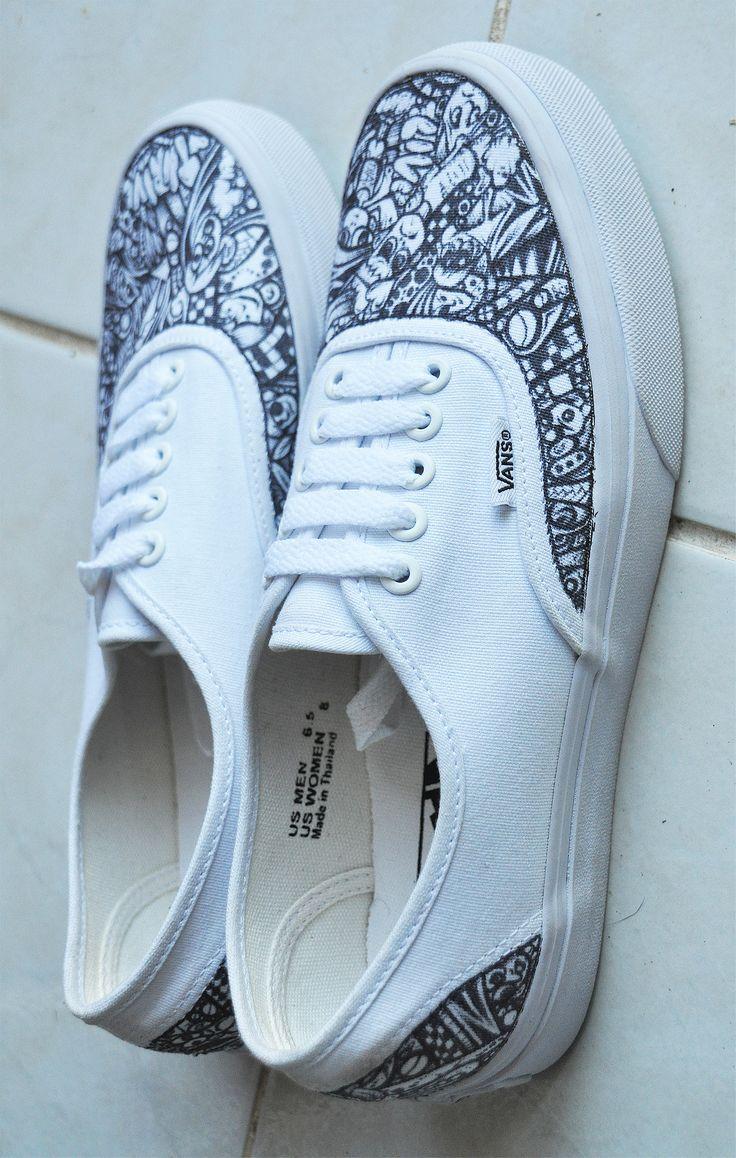 Drawn sneakers white van S N and Pinterest Pin