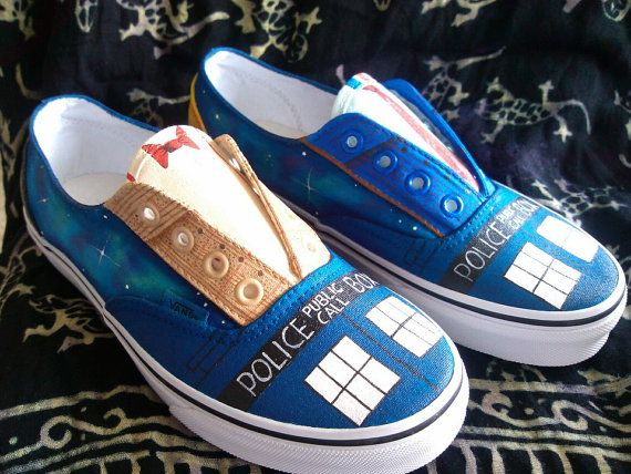 Drawn vans dr who About $115 by Inspired by