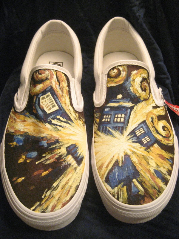 Drawn vans dr who Design Custom Creative Beautiful Shoe