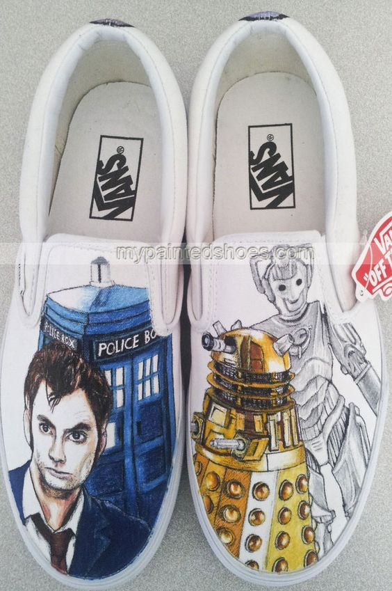 Drawn vans dr who Painted Who top Shoes Painted