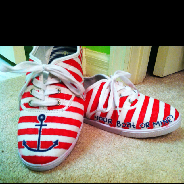 Drawn shoe diy Pinterest Nautical summer shoes of