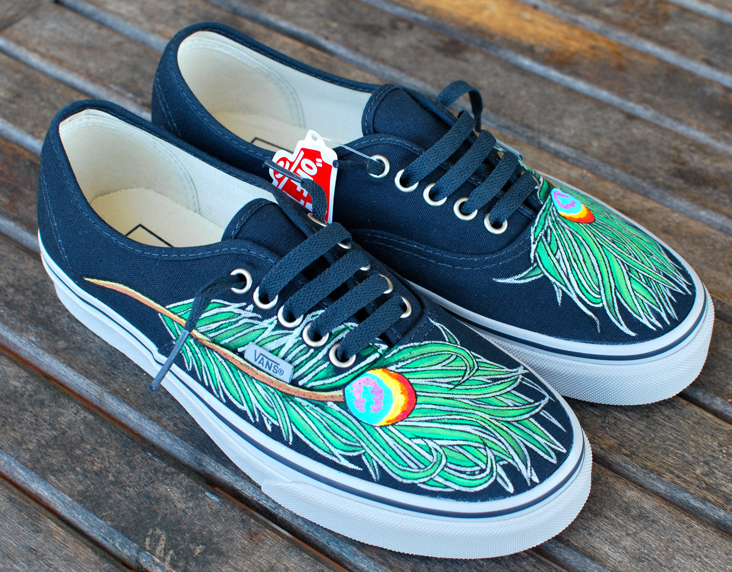 Drawn vans feather On by Wavy 00 Peacock