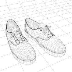 Drawn vans foot Model by Vans step How