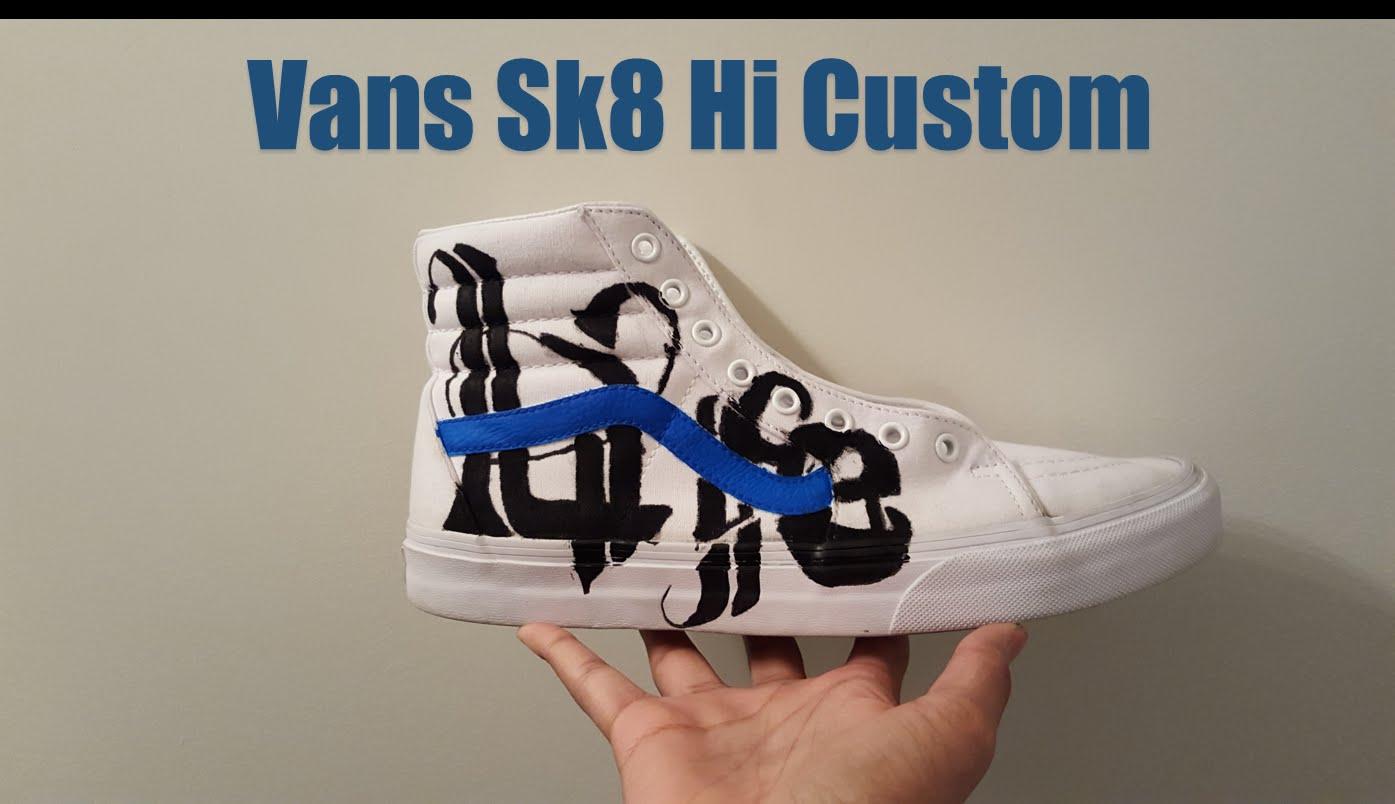 Drawn vans foot @AngelusDirect Vans Custom Hi YouTube