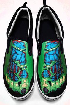 Drawn vans foot Shoes Blood Custom Spatter Painted