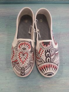 Drawn vans girly Heart Drawn Henna (Slip Bandana