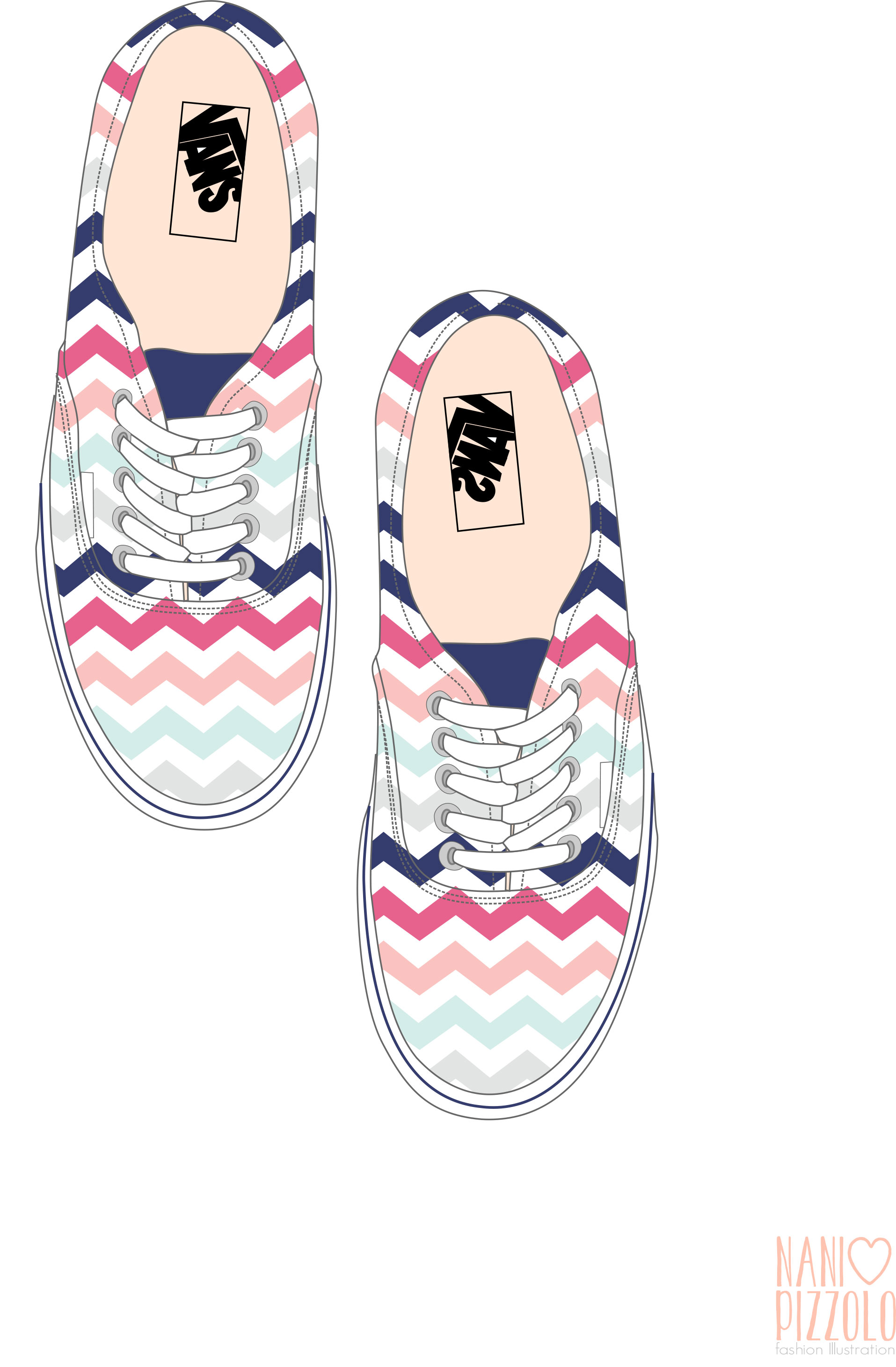 Drawn vans girly #croqui #sketch #fashionillustration fashiondesign #fashionillustration