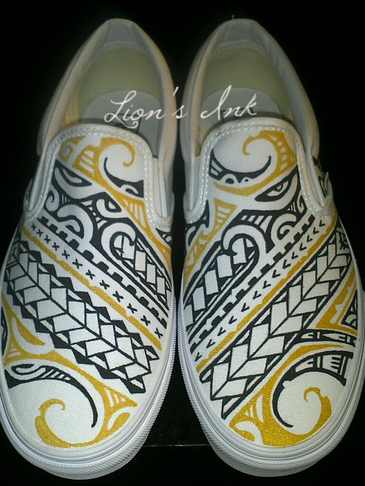 Drawn shoe tribal design On images by $110 Vans