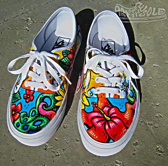 Drawn vans handpainted Hand Painted by One Kind