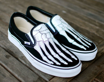 Drawn vans handpainted Doctors Boney Vans for Hand