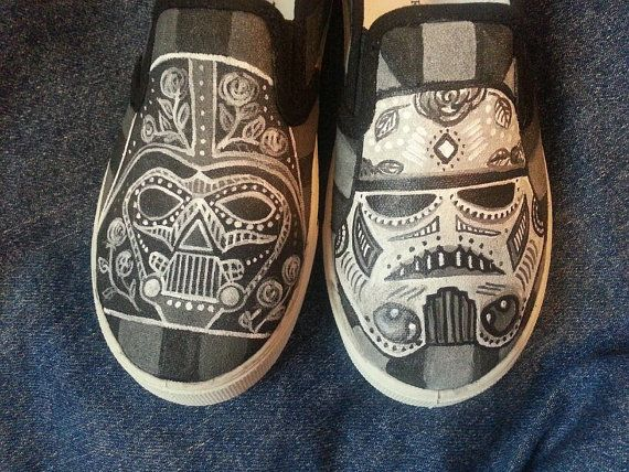 Drawn vans handpainted Shoes Wars Dead Pinterest Decorated