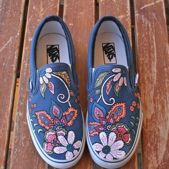 Drawn vans handpainted On and on shoes/clothes 91