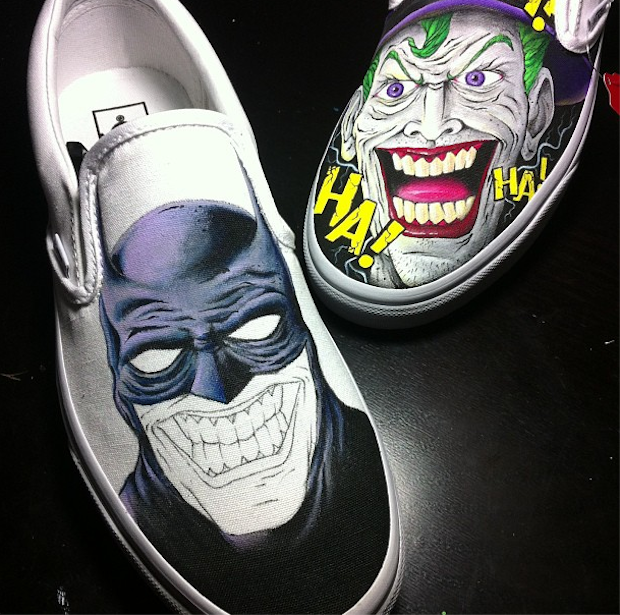 Drawn vans joker Etsy #joker #batman Shoes #cool