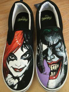 Drawn vans joker (Vans): painted Custom  @