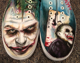 Drawn vans joker Painted Hand Batman Joker Vans