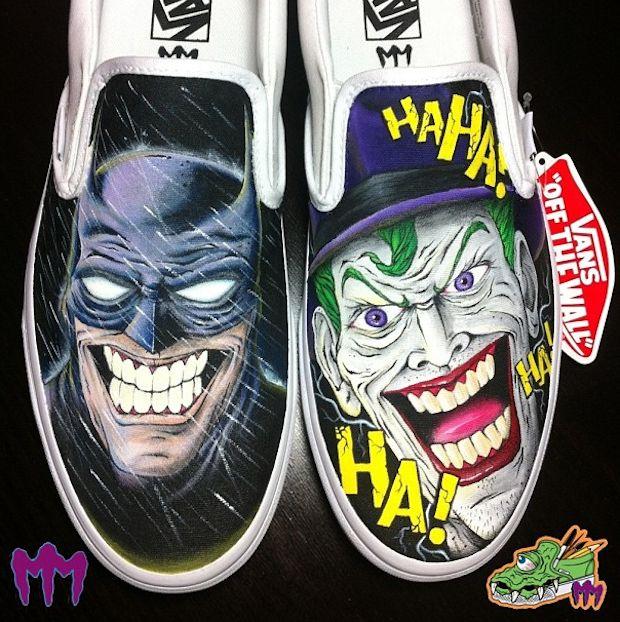 Drawn vans joker 15 vs Batman on by