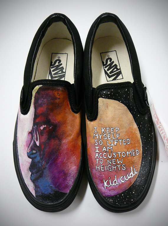 Drawn vans kid cudi $219 Etsy Hand Custom Kid