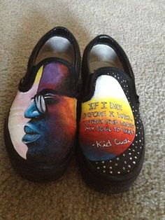 Drawn vans kid cudi Painted Custom Cudi #Kidcudi Cudi