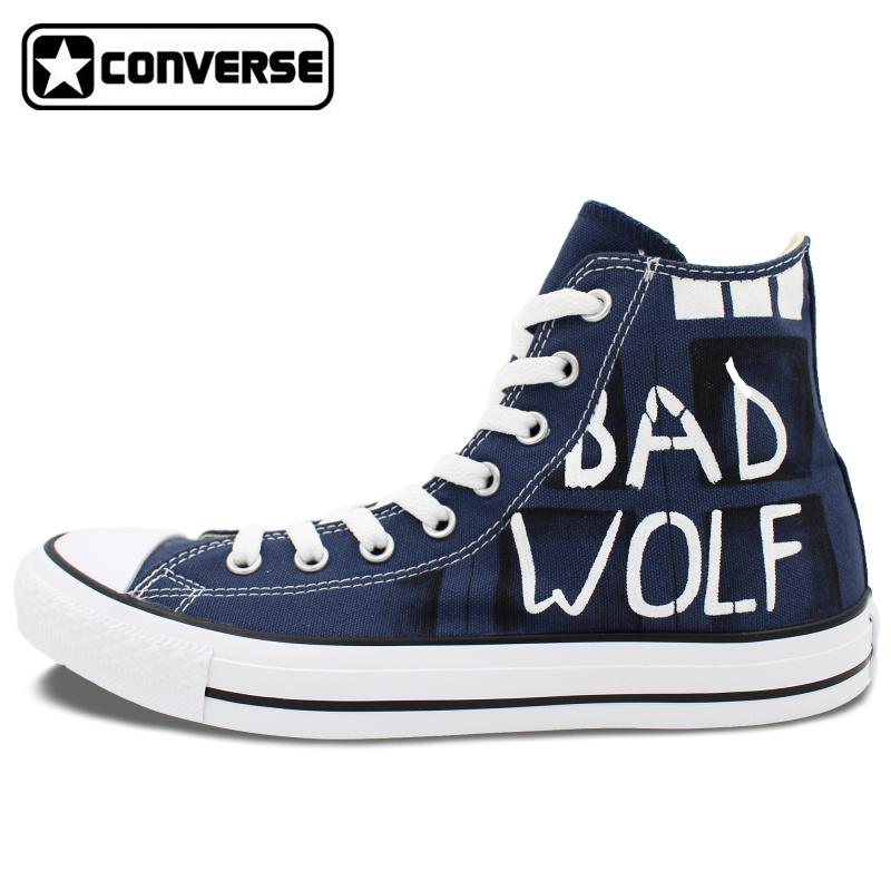 Drawn converse shoe Design Blue Sneakers on Aliexpress