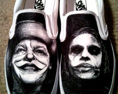 Drawn vans man Hand by and Batman shoes