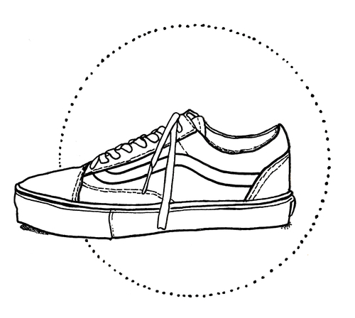 Drawn vans old shoe #6