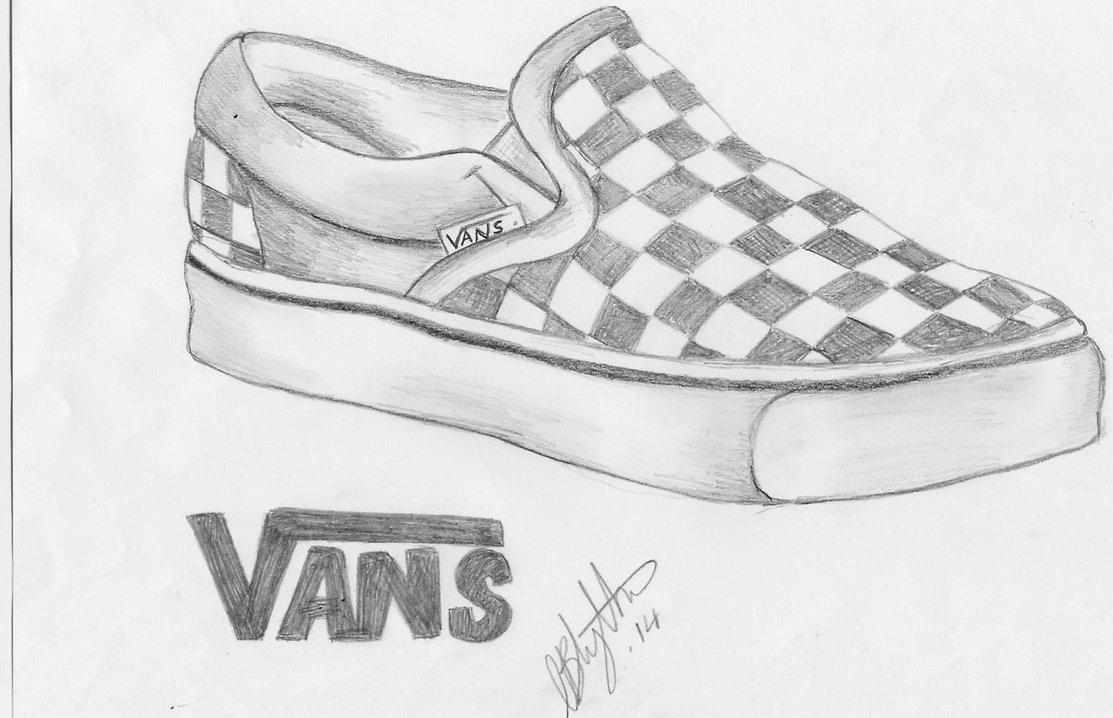 Drawn vans old shoe #7