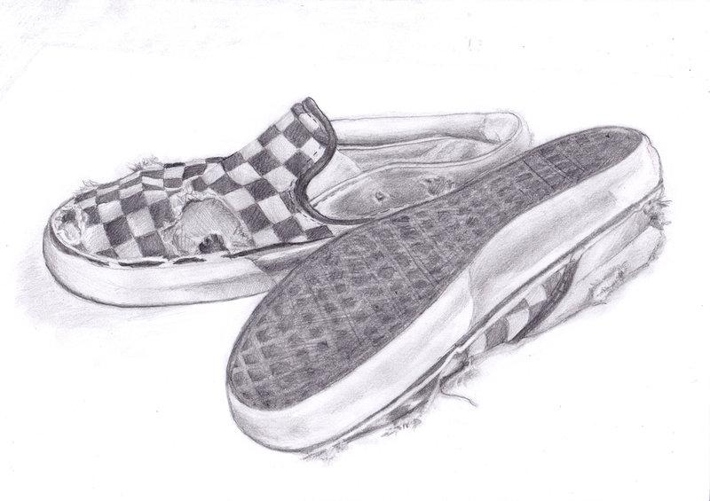 Drawn vans old shoe #1