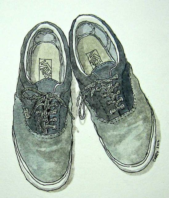 Drawn vans old shoe #12