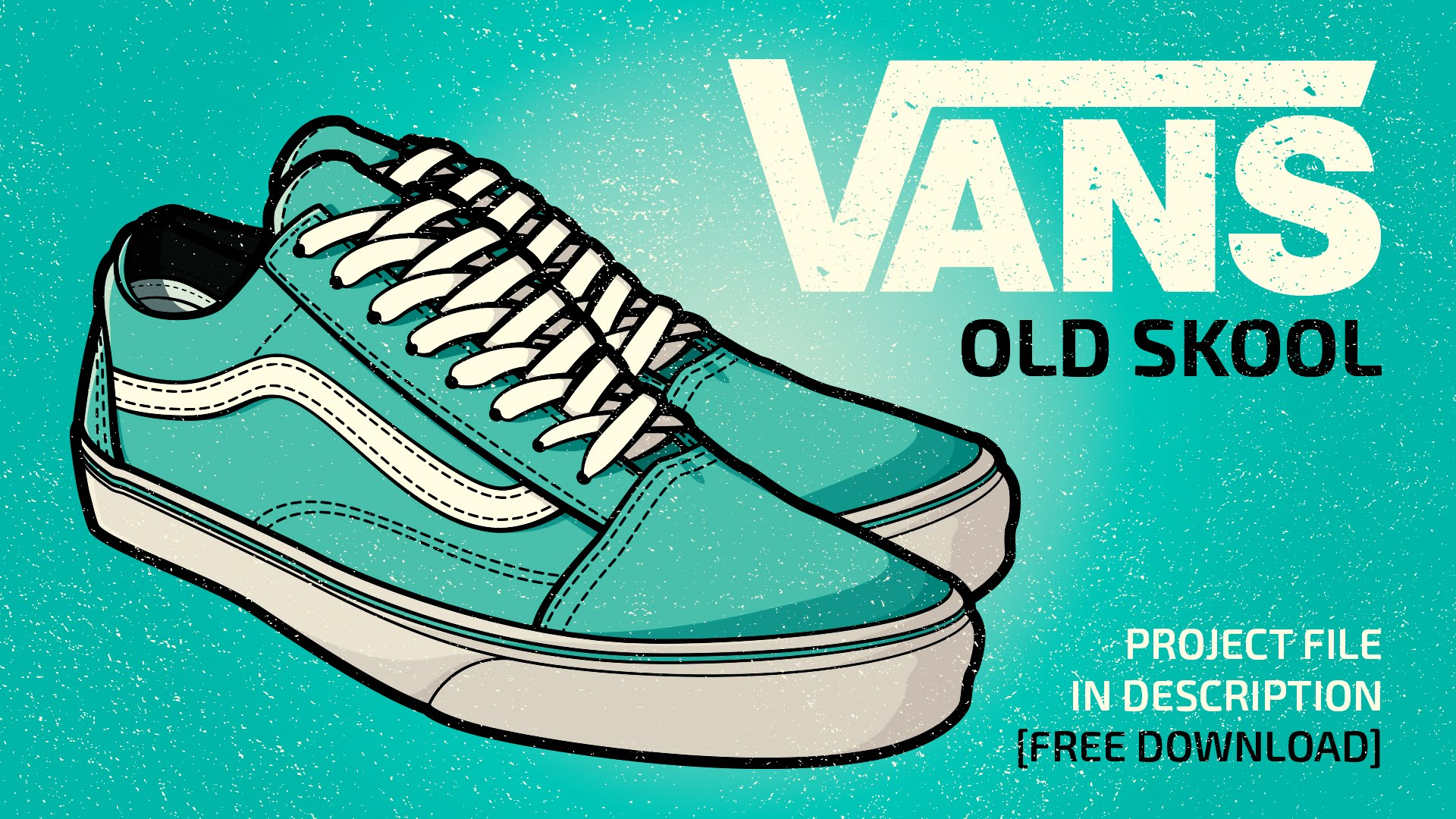 Drawn vans old shoe #3