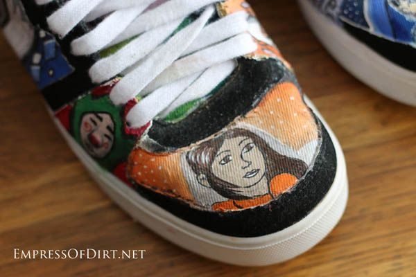 Drawn vans paint Paint Paint on shoes if