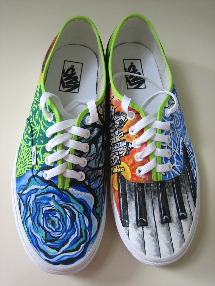 Drawn vans paint Paint Drawn of shoes with