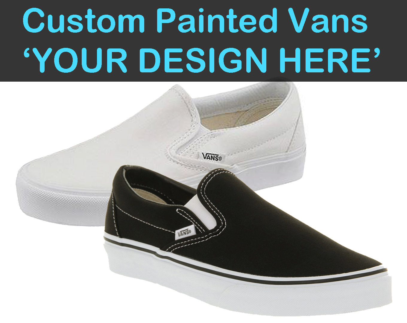 Drawn vans paint Painted Painted Canvas Shoes Choose