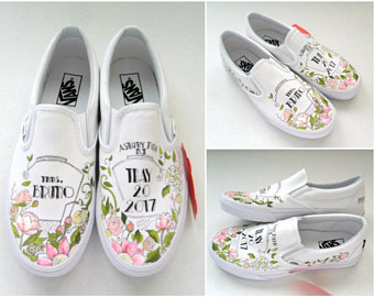 Drawn vans paint VANS vans Wedding Bouquet Shoes