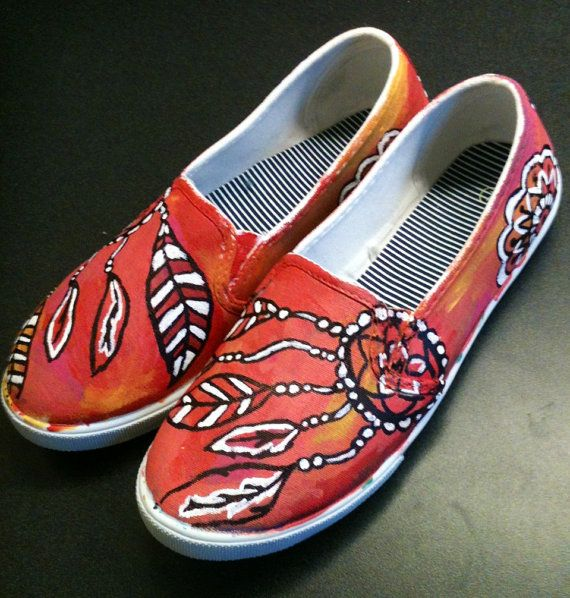 Drawn shoe hand painted Shoes Drawn Vans Hand on