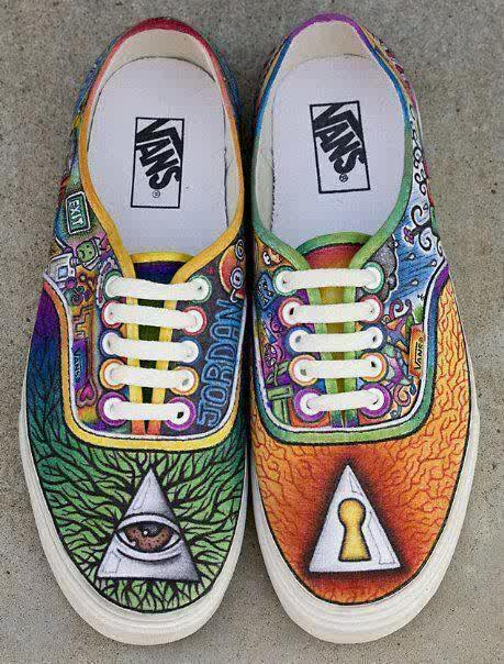 Drawn vans psychedelic I shoes! drawing s on