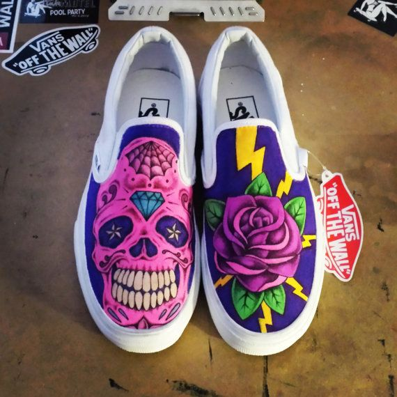 Drawn vans psychedelic Custom slip best Custom Vans