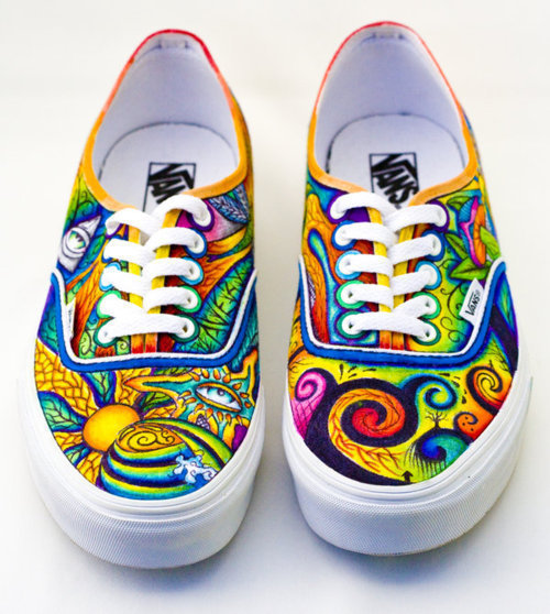 Drawn vans psychedelic Crazy colorful Vans Pinterest them