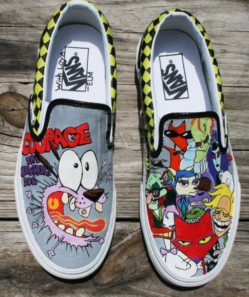 Drawn vans psychedelic Cool Courage Vans! were onto
