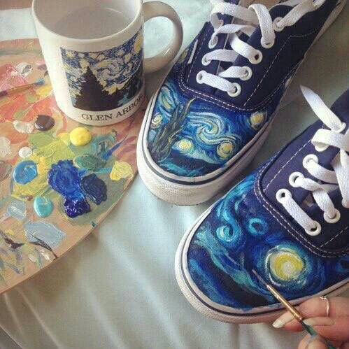 Drawn vans psychedelic Eras canvas Custom on perfect